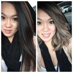 Alicia, asian blond ombré on ash brown base. | Yelp