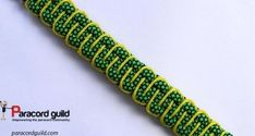 Simple laced paracord bracelet with stitched sides.