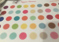 Colorful Dot Planner Stickers - Erin Condren - MAMBI Happy Planner by PippasPlanner on Etsy