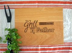 Personalized The Grill Father Cutting Board by TheCuttingBoardShop