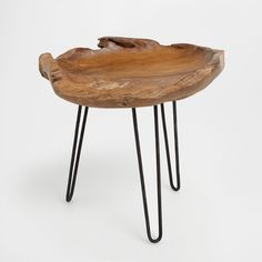 Bedside table in the shape of a wooden bowl - FURNITURE - DECORATION | Zara Home Hungary