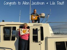 """Congratulations to out newest Gold Loopers, Allen Jacobson and Lila Daut! They completed the Great Loop aboard their 34' American Tug, """"Blue Haven,"""" on October 3, 2016."""
