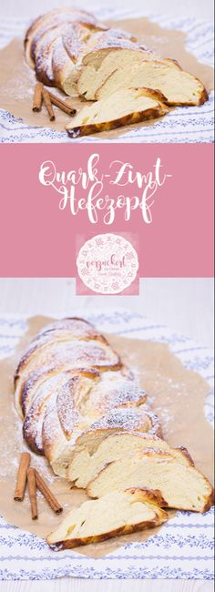 Quark cinnamon-Hefezopf - recipe- Quark-Zimt-Hefezopf – Rezept Recipe for a delicious and fluffy quark and cinnamon yeast cake. It does not dry out when stuffed with quark and tastes like freshly baked after a week. Baking Recipes, Cake Recipes, Dessert Recipes, Bread Recipes, Desserts Sains, Dessert Bread, Health Desserts, Cakes And More, Food Cakes
