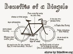 I could name about a hundred more benefits of bicycling.