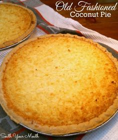 Classic coconut custard pie.