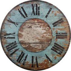 DECOPAULA Decoupage Vintage, Decoupage Paper, Vintage Maps, Clock Craft, Diy Clock, Diy Pared, Clock Face Printable, Shabby Chic Clock, Paisley Art