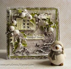 Dorota_mk: Cards dusted with snow