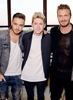 Liam Payne, Niall Horan, and David Beckham