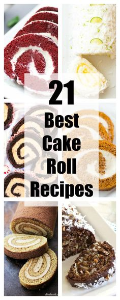 21 Best Cake Roll Recipes Cake rolls…there's nothing like them. Sure, layer cakes are classic and beautiful, but cake rolls are just plain fun. How often do you get to eat a slice of cake that reminds you of a Ho Ho? Cupcakes, Cupcake Cakes, Köstliche Desserts, Delicious Desserts, Dessert Recipes, Recipes Dinner, Swiss Roll Cakes, Cake Roll Recipes, Recipes For Cakes