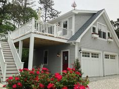 Did you remember to shut the garage door? Most smart garage door openers tell you if it's open or shut no matter where you are. A new garage door can boost your curb appeal and the value of your home. Barn House, House Design, House, Apartment Design, Garage Decor, House Exterior, Garage Doors, Carriage House Plans, Garage Apartments