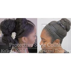 #protectivestyle much? Here's a super easy updo you can do with marley hair! Me and Jay from @relaxedthairapy did our versions of an easy protective style for your #naturalhair or #relaxedhair or #transitioningtonatural hair by kolanashatori