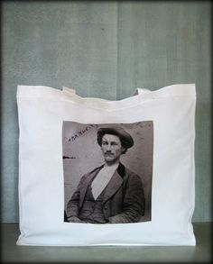 Tintype Tote  Mr. E.O. Power by ScarlettSlipper on Etsy