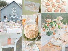 peach and green wedding inspiration