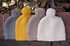 This hat is thick and soft. The pattern is simple and quick. It's a perfect hat for winter. Garter Stitch Hat PDF