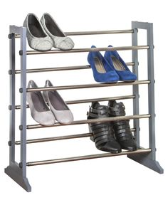 This shoe rack can be used in a closet but also looks nice enough to go against a bedroom wall, in a hallway, at an entry way, dorm room or even in the garage to organize and help dry out wet and muddy shoes.