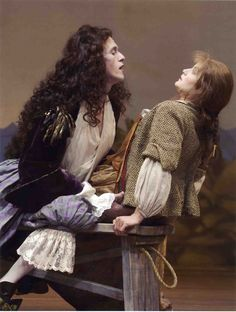 """Adam Stein as """"Don Juan"""" and Mary Bacon as """"Charlotte"""" in The Old Globe production of Don Juan by Moliere in The Old Globe Theatre in London, May 8 - June 13, 2004.... A spectacular production! I had the distinct pleasure of under studying Ms Bacon in Misalliance"""