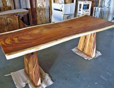 Live Edge / Natural Edge Monkeypod Wood Dining Table eclectic dining tables