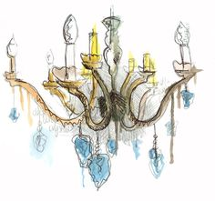 chandelier illustration