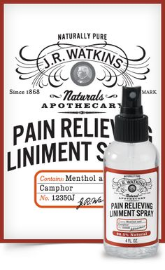 After an intense ‪#‎workout‬ or long day at work, use our Pain Relieving Liniment Spray to relieve those aching muscles www.jrwatkins.com/consultant/jessicalentz
