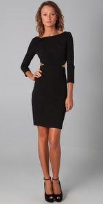 Halston Heritage, Long Sleeve Cutout Dress  $206.50