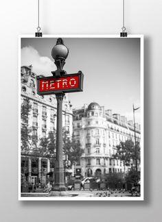 Plakat / Poster – Paris_metro