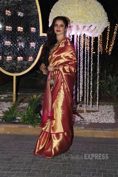#Rekha #ManishMalhotra's niece's #reception