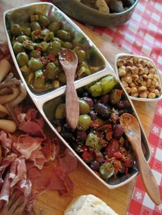 Cheese and Charcuterie Board with Roasted Garlic and Marinated Olives