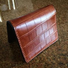Customer photo of the Crocodile and Lizard Moon Wallet I made a while back.  I need to make more pieces with croc it's amazing. by rareandsundry