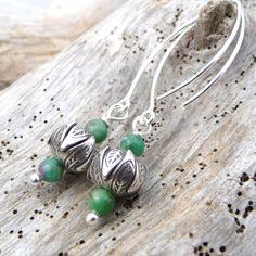 """Boucles d'oreilles elfiques argent karen""""feuilles au printemps"""" : Boucles d'oreille par belladona"""