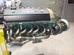 Elan Motorsport Group 5 BMW with a turbo Bmw M50, Bmw Turbo, Bmw Engines, Car Engine, Engine Swap, Bmw Classic Cars, Aircraft Engine, E30, Twin Turbo