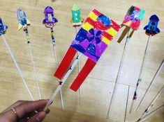 설날 만들기 / 로케트 만들기 빨대를 이용해서 날아가요 빨대를 이용하여 만들 수 있는 만들기에요. 만들기... Korean Art, Painting For Kids, Kite, Craft Projects, Singing, Arts And Crafts, Education, Outdoor Decor, Home Decor