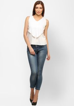 White Solid Top at $30.40 (24% OFF)
