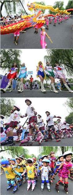 West Lake Roller Skating Parade had achieved a RECORD-BREAKING no. of roller skaters performed in a dragon dance !	#rollerskate #parade #dragondance #recordbreaking
