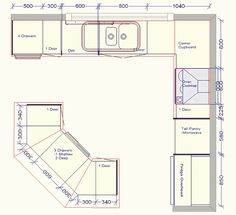 U Shaped Kitchen Layout Dimensions corner pantry dimensions and kitchen layouts - google search