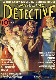 """Dedicated to all things """"geek retro:"""" the science fiction/fantasy/horror fandom of the past including pin up art, novel covers, pulp magazines, and comics. Art Pulp Fiction, Science Fiction, Pulp Art, Forensic Science, Fiction Books, Pulp Magazine, Magazine Art, Magazine Covers, Norman Rockwell"""