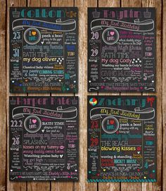 First Birthday 100 Customized Chalkboard by CustomChalkPosters