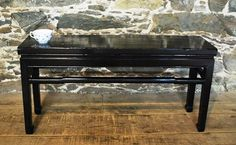 Antique Chinese Lacquered Bench, Circa 1880