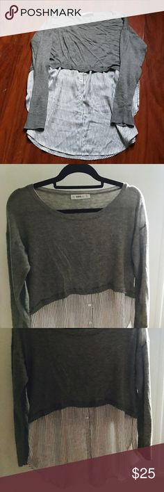 Zara ultra comfy like new top! Size M Has 3% cashemire and 1% wool. The bottom looks like a silk shirt and the top of it is warm and comfy! Looks great with leggings or inside a pair of jeans! Zara Tops Tunics