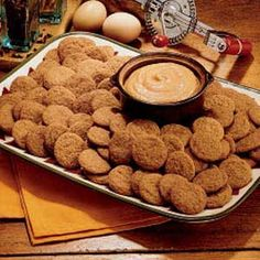 Spice Cookies with Pumpkin Dip.  Great for a crowd...makes a lot of cookies and they're really tasty.