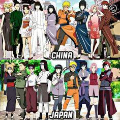 china anime us Friends Happy Monday! Gaara, Naruto Shippuden Sasuke, Naruto And Sasuke, Anime Naruto, Naruto Cute, Naruto Girls, Shikamaru, Itachi, Otaku Anime