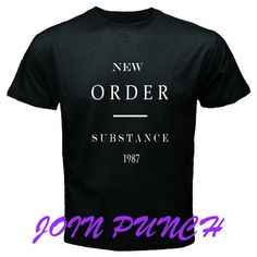 New Order Substance 1987 Black White New T-Shirt (Longslave&Hoodie Available) #Custom #BassicTee