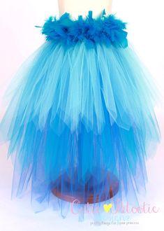 Jungle Jewel Bird Tail Bustle Belt Blue por Cutiepatootiedesignz