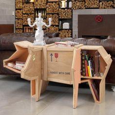 Gut Indra Designer Bücherregal Design OSB Platten Bradley Bowers. See More.  Regal Schwein