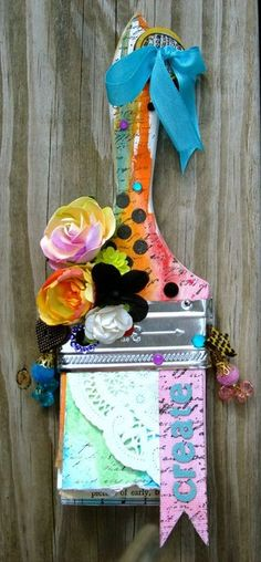 Jen Matott's altered paintbrush.  Fantastic idea for old paintbrushes!