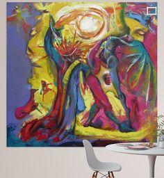 Original request per Mail  Partytime - 2013 Mischtechnik auf Leinwand - Mixed media on canvas  90 x 90 cm (35,4 x 35,4 inch) signiert – signed