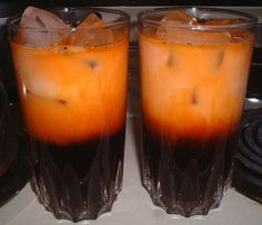 Thai Iced Tea - I had this in Thailand and it blew my mind, delicious dessert non-alcoholic drink