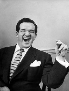 Cartoonist Al Capp Laughing