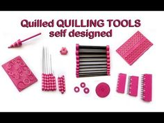 (6) Quilled QUILLING TOOLS - self designed (workshop-challenge-video) - YouTube