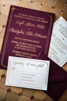 1920s GATSBY WEDDING INVITATIONS http://www.elegantwedding.ca