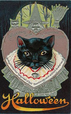 Vintage Halloween Postcards, via Flickr.